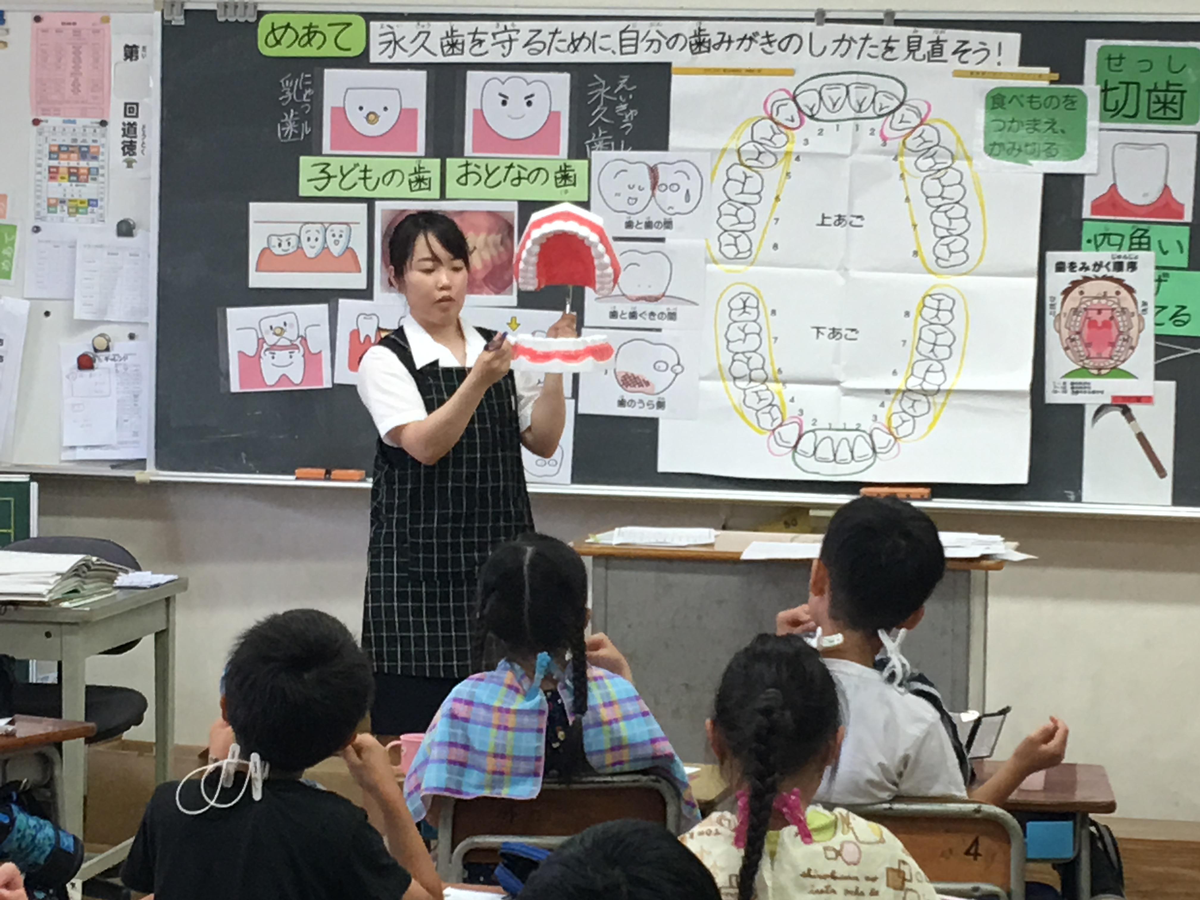 養護教諭の教育実習が行なわれました